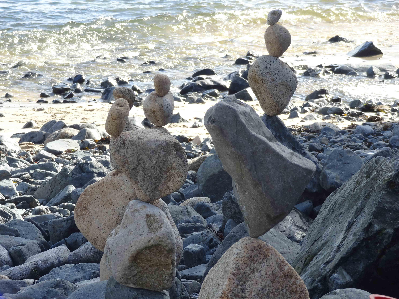 Stone balancing, St Ives.
