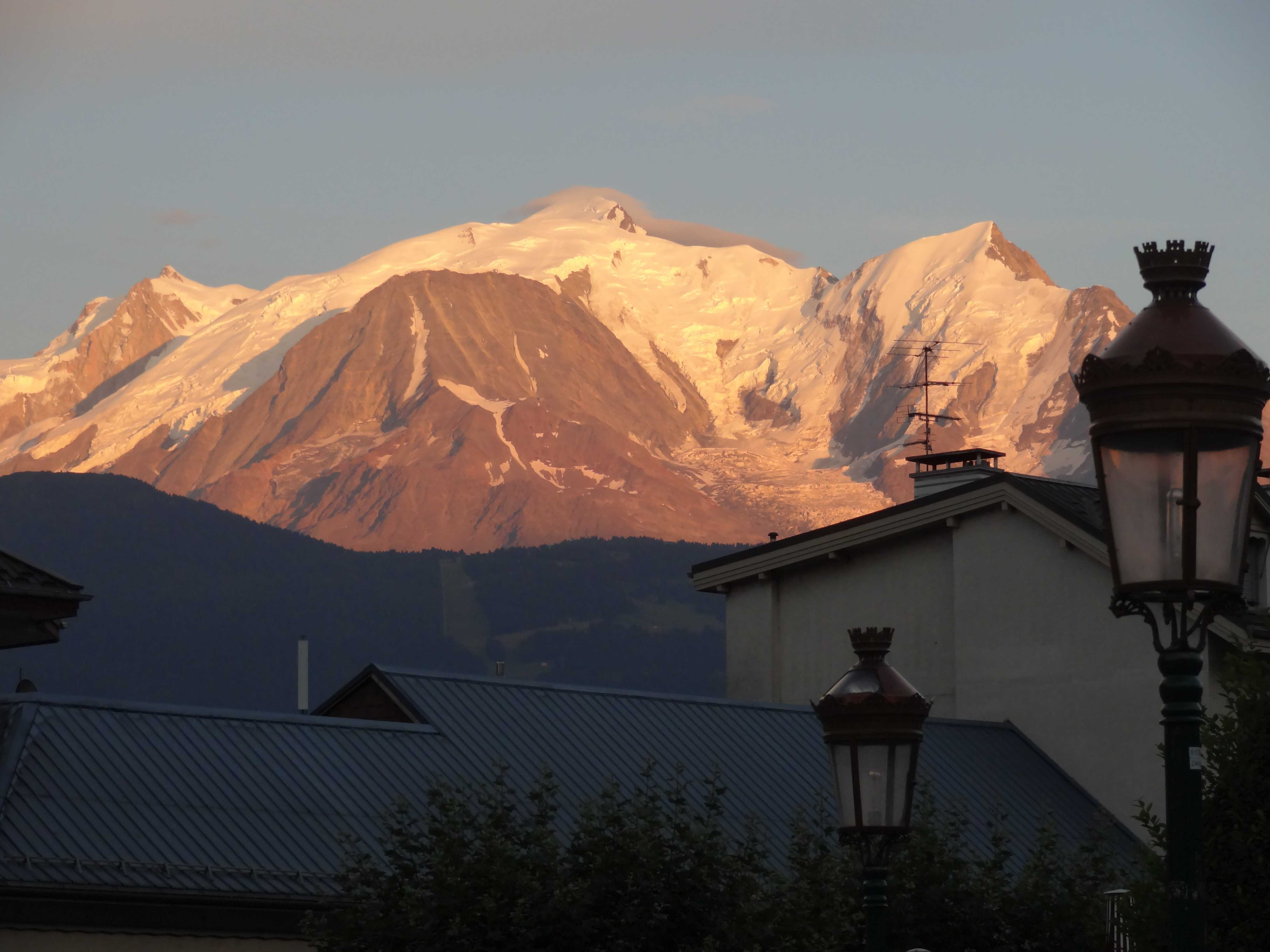 Mont Blanc, from Chamonix, French Alps