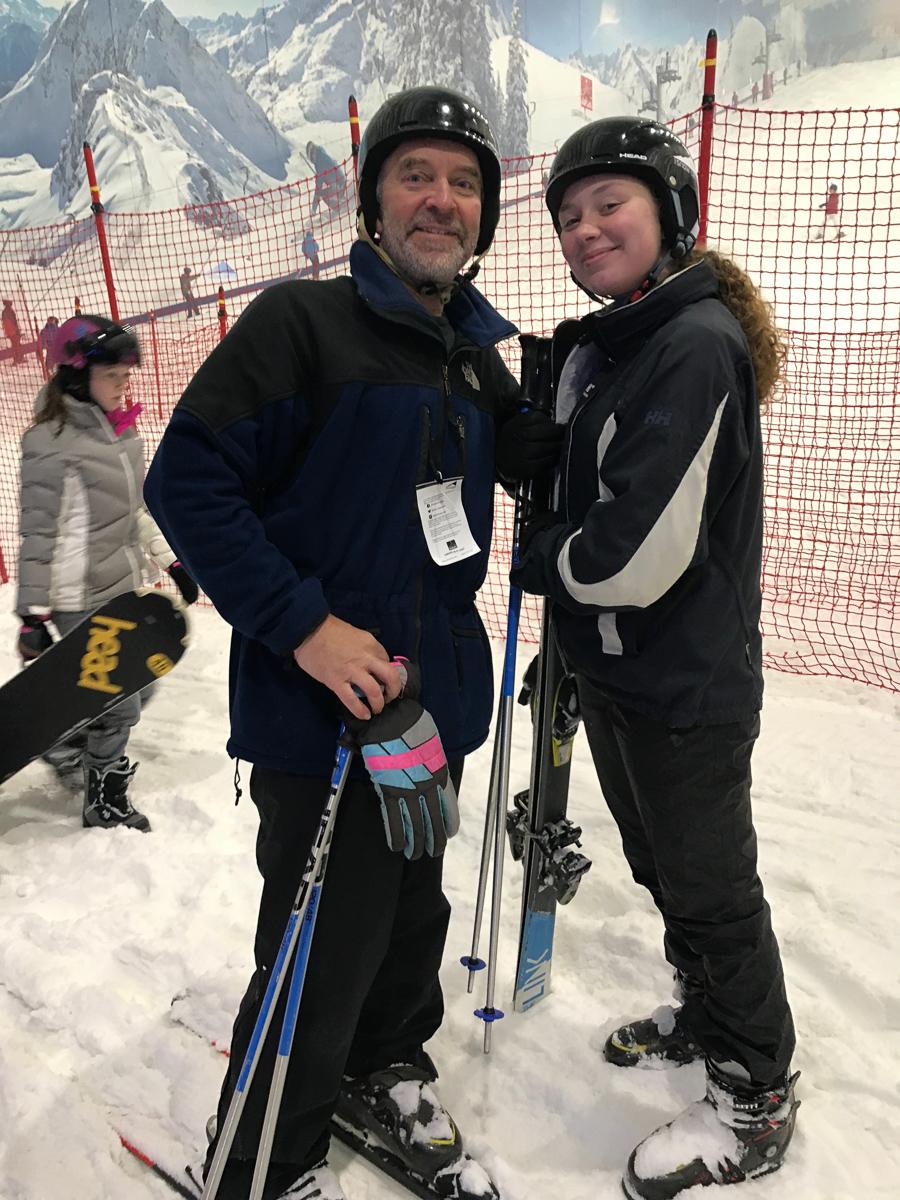 Ski practice at Hemel, 2019