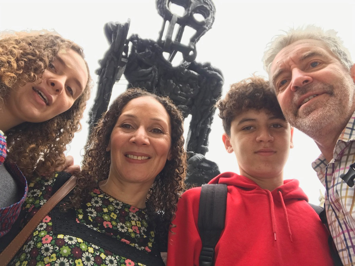 Family trip to Royal Academy of Arts.